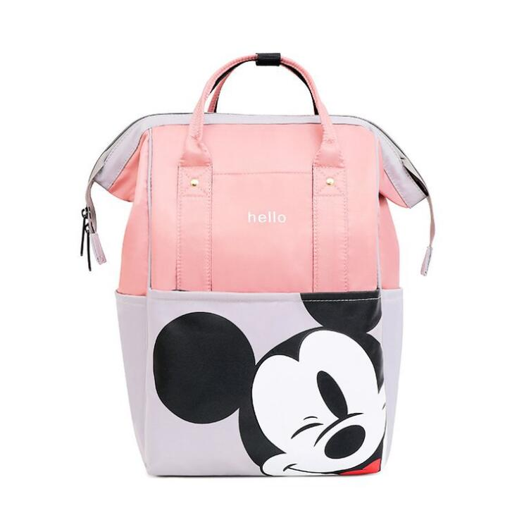 Mickey Backpacks Fashion Large Space Mommy Diaper Shoulder Bag Can Stroller For Baby Gift Bag