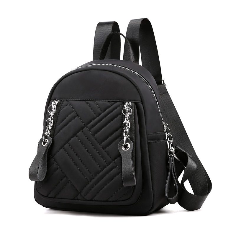 New Nylon Backpack Women Multifuction Bagpack Casual Plaid Mochila For Teenager Girls Fashion All Match Schoolbag 2019 Sac A Dos