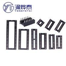 Ic-Socket 10PCS Dip-Microcontroller-Chip Integrated-Block Straight-Plug 14 16-20-24-28