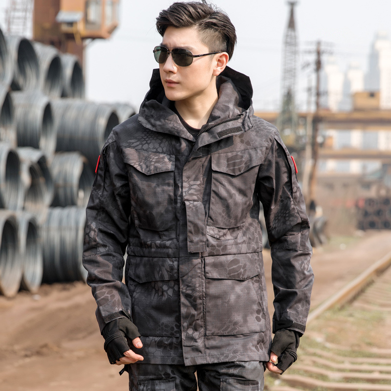 Men Tactical Jacket New 2020 Spring Autumn US Army M65 Military Field Jacket Trench Coats Hoodie Casaco Masculino Windbreaker