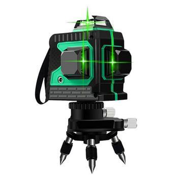 12 Lines 3D Green Beam 360 Self-leveling Laser Level Meter Horizontal & Vertical 1x360 Adjustable Adapter For Laser Level