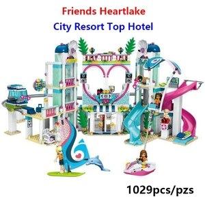 Image 2 - Set de construcción de Hotel Heartlake City para niñas, juego de construcción de bloques de Hotel Heartlake City, 01068, 41347