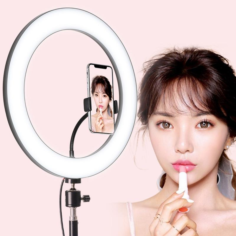 3Modes Mini LED Desktop Video Ring phone Light Selfie Lamp With Tripod Stand For YouTube Tik Tok Live Photo Photography Studi
