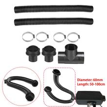 1 Set Car 60mm Air Parking Heater Pipe Ducting T Piece Warm Air Outlet Vent Hose Clips For Diesel Heater For Webasto Diesel car 12v 24v motor assembly air diesel parking blower premium accessory universal for car truck buses for eberspacher webasto