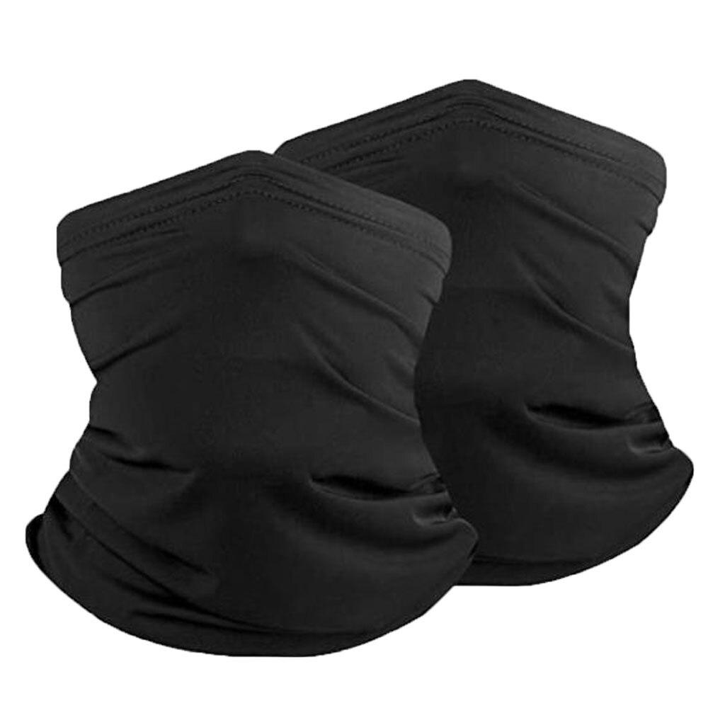 2 шт. многофункциональная маска для шеи, дышащая бандана, Балаклава, модная однотонная маска, Регулируемый Чехол для лица|Женские маски|   | АлиЭкспресс