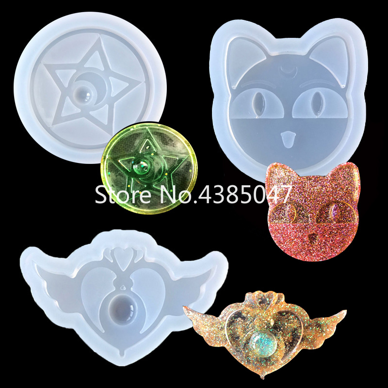 1PC Star Wing Cat Liquid Silicone Expoxy Mold Resin Jewelry Mold UV Pendant Jewelry Accessories Handcraft Jewelry Tool