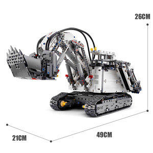 Image 5 - עובש מלך טכני לבני שלט רחוק 42100 Liebherrs חופר R9800 מנוע כוח רכב דגם ערכת אבני בניין צעצועי DIY