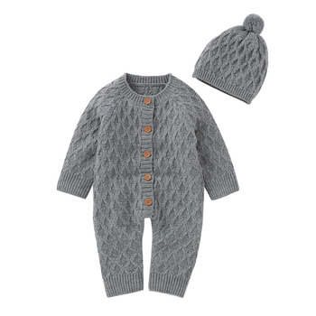 Baby Knitting Rompers Baby Winter Romper Overalls Newborn Jumpsuit  Solid Color Girls Boys Clothes christmas reindeer knitted newborn baby boys girls romper jumpsuit winter kids costume long sleeve pajamas overalls for children