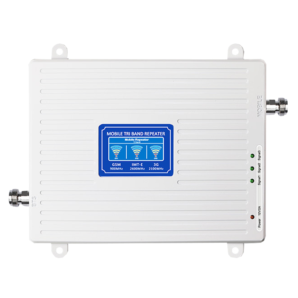 Image 3 - 2G 3G 4G Tri Band Signal Booster GSM 900+(B1)WCDMA 2100+(B7)FDD LTE 2600 Cellphone Signal Repeater Mobile Cellular Amplifier Kit-in Signal Boosters from Cellphones & Telecommunications