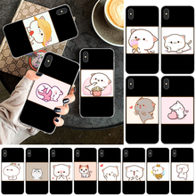 LJHYDFCNBr Cute cat Transparent Soft Shell Phone Case Capa for iPhone 11 pro XS MAX 8 7 6 6S Plus X 5 5S SE XR cover black cover lovely cat for iphone x xr xs max for iphone 8 7 6 6s plus 5s 5 se super bright glossy phone case
