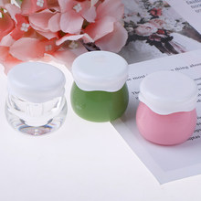 Refillable Bottles Plastic Empty Makeup Jar Pot Travel Face Cream/Lotion/Cosmetic Container 10g(China)