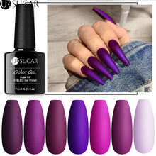 UR Gula 7.5Ml Matte Kuku Gel Polandia Ungu Seri Hybrid Pernis Kuku Seni Semi Permanen UV Gel Varnish Rendam off Matte Top Coat(China)
