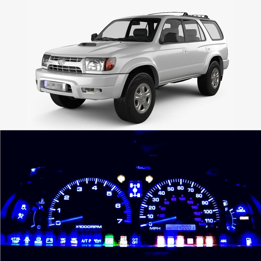 WLJH Super Bright 12V Instrument Panel Cluster Gauge Speedometer Cluster Lamp Bulb LED Light Kits For Toyota 4Runner 1984 - 2002