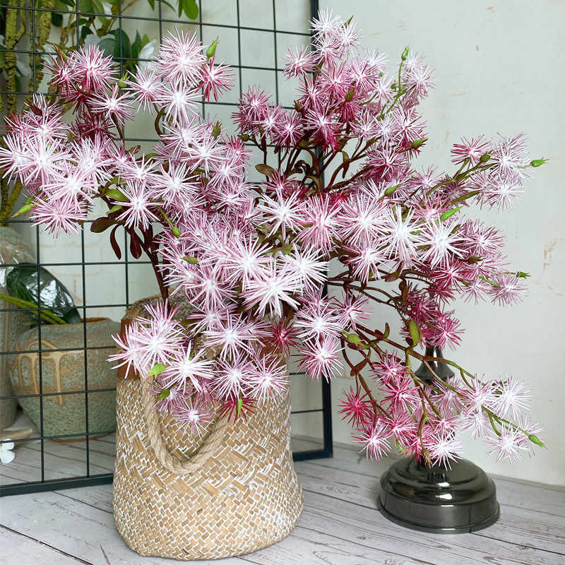 NEUE Blume anordnung nadel kiefer gras für home garten dekoration bunte gefälschte pflanzen Kunststoff künstliche blumen