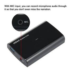Image 5 - Ezcap 266 1080P HD boîte de Capture de jeu vidéo pour le soutien vidéo en direct 1080P entrée vidéo et sortie micro entrée noir