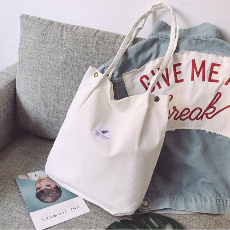 Tassen voor dames corduroy schoudertas herbruikbare - Handtassen - Foto 4