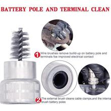 Car-Brush-Tool Cable-Cleaner Battery Dirt Cleaning B9L5 Post-Terminal Hand-Wire
