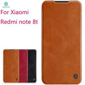 Image 1 - Nieuwe 2019 Voor Xiaomi Redmi Note 8T Case Cover Nillkin Pu Leather Flip Case Voor Xiaomi Redmi Note 8T Cover Wallet Leather Case