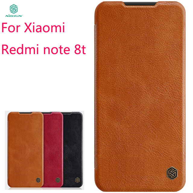 Nieuwe 2019 Voor Xiaomi Redmi Note 8T Case Cover Nillkin Pu Leather Flip Case Voor Xiaomi Redmi Note 8T Cover Wallet Leather Case