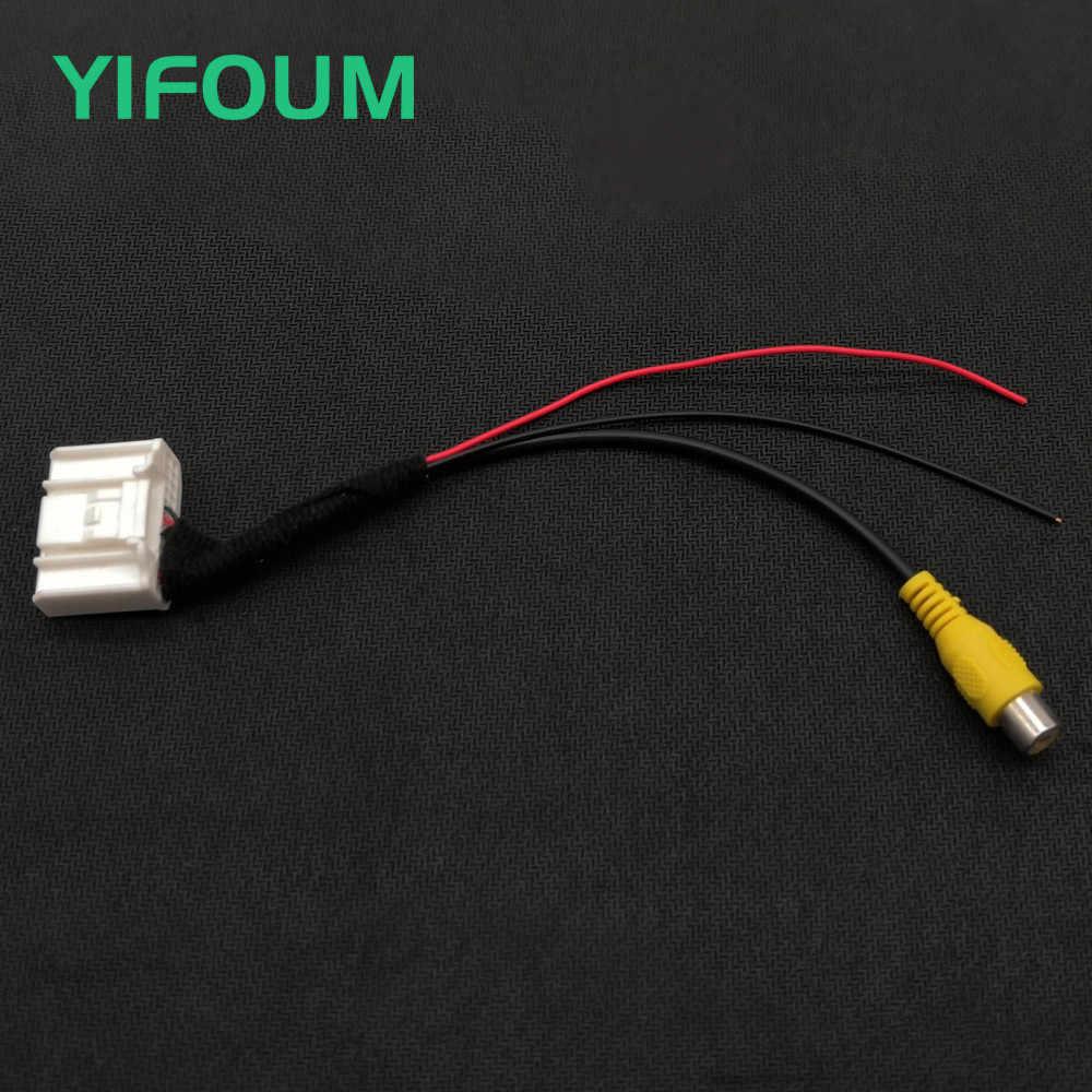 YIFOUM 24 pin interruptor de entrada de vídeo Original Cámara inversa RCA Cable adaptador para Nissan Venucia T70 2014 2015 coche de gama media