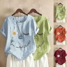 В винтажном стиле; Из хлопка и льна для женщин рубашка блузка