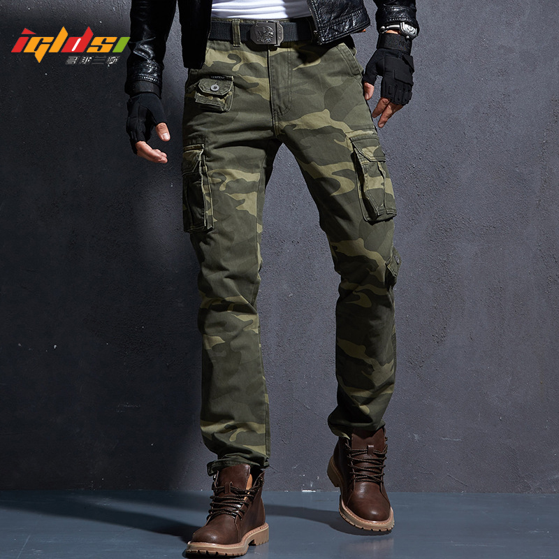 Men's Fashion Military Cargo Pants Multi-pockets Baggy Pants Casual Long Trousers Overalls Camouflage Joggers Pants Man Cotton