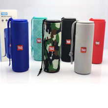 TG Bluetooth Speaker Portable Outdoor LED Flashlight Sport Loudspeaker Wireless Mini Column Music Player Support TF Card(China)
