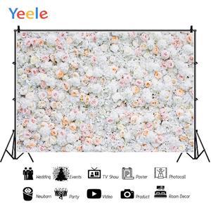 Image 2 - Yeele Wedding White Flower Wall Ceremony Photophone Photography Backdrops Personalized Photographic Backgrounds For Photo Studio