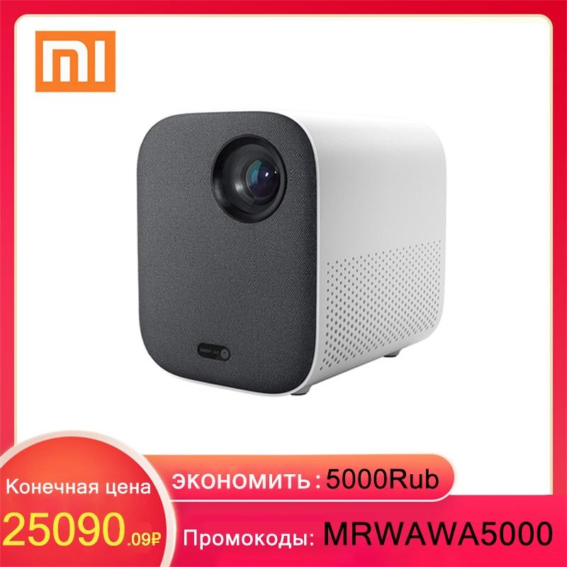 Проектор Xiaomi Mijia, мультимедийный портативный мини-проектор DLP 1920*1080 с поддержкой 4К видео, WI-FI, для домашнего кинотеатра. Промокоды:MRWAWA5000 экон...