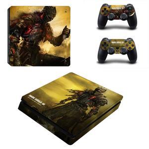 Image 1 - ダーク魂PS4スリムスキンステッカーデカールビニールデュアルプレイステーション4コンソール & コントローラPS4スリムスキンステッカービニール