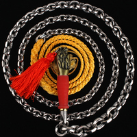 Nut Stainless Steel Unicorn Whip Ringing Bodybuilding Middle Martial Art KungFu WuShu Steel Whip