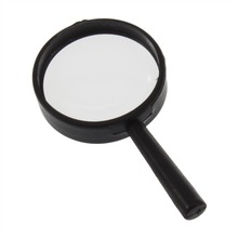 Top Handheld Reading 5X Magnifier Hand Held Magnifying 25mm Mini Pocket Magnifying Glass Children Magnifying Glass bijia 6x high end hand held reading magnifier black