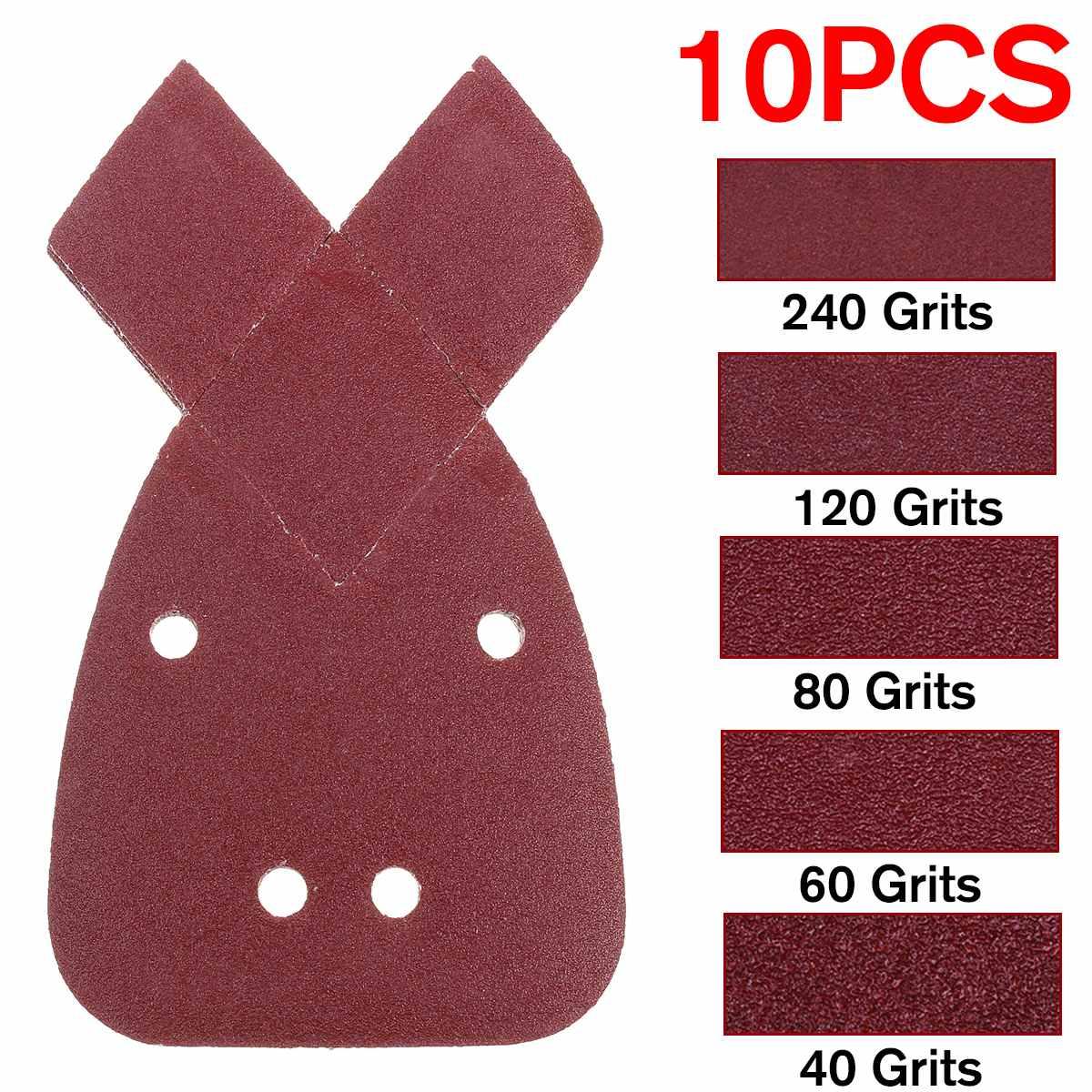 10pcs Sanding Paper 40/60/80/120/240Grit Mouses Sanding Sheets Pads Sand Paper For Black & Deckers Sander Polishing Papers