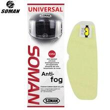 SOMAN hiver universel casque de moto visière film Anti buée haute claire casque de moto lentille Films pour visière casques AV04