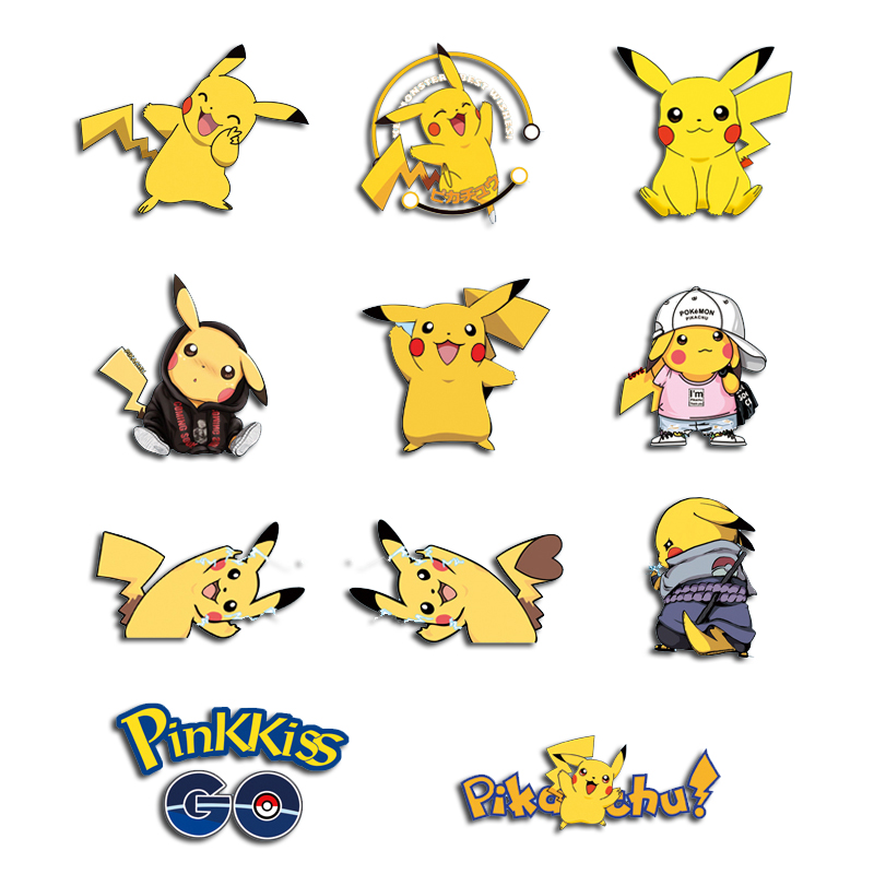 Iron on Cartoon Pikachu Patches for Kids Clothing DIY Shirt Applique Heat Transfer Vinyl Anime Pokemon Patch Stickers on Clothes