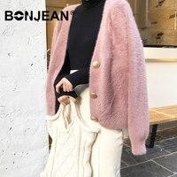 Cardigan Women Sweater Mujer Sueter Mujer Invierno 2019 Jumper Pink Sweater Oversized Coat Outerwear Korean Winter Tops Z129