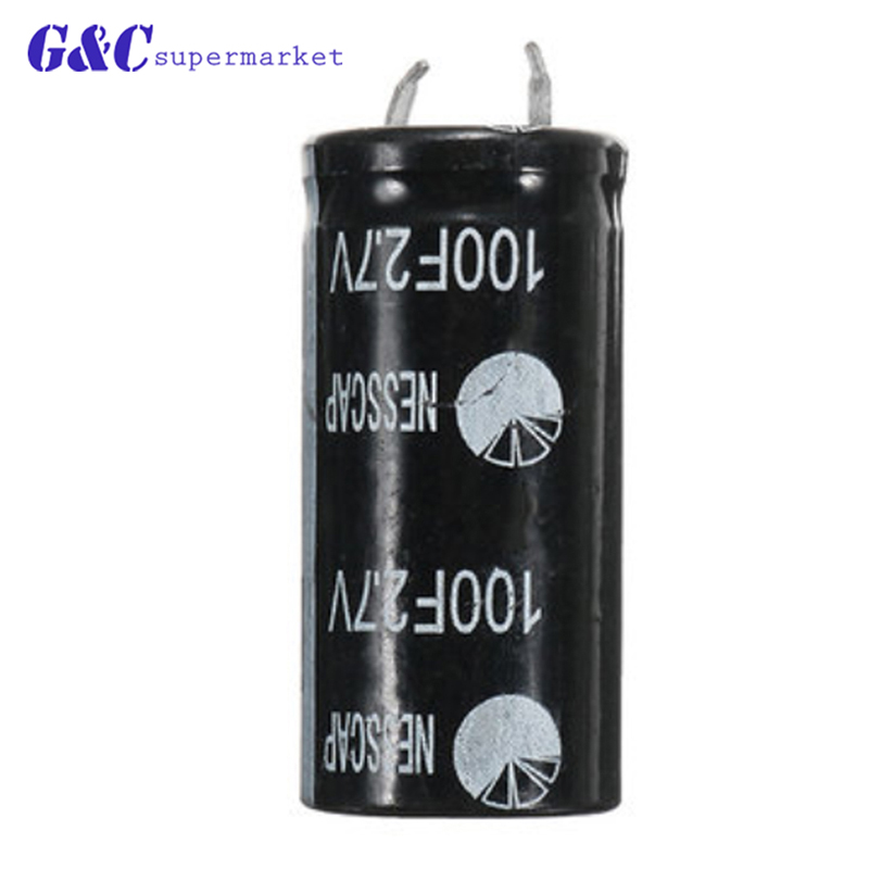 1Pcs NEW <font><b>Super</b></font> <font><b>capacitor</b></font> 2.7V100F ultra <font><b>capacitor</b></font> farad <font><b>capacitor</b></font> <font><b>2.7V</b></font> <font><b>100F</b></font> diy electronics image