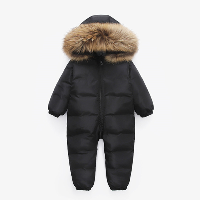 Russian Winter Infant Warm White Duck Down Rompers
