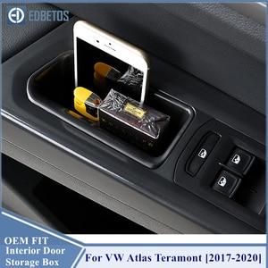 Image 4 - Atlas Teramont 2017 2018 2019 2020 İç kapı kolu depolama varil Volkswagen VW Atlas Teramont şeffaf plastik saklama kabı