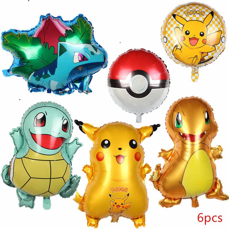 XXYYZZ tartaruga dos desenhos animados Pikachu Pokémon para Jenny foil birthday party balloon decoração balão de látex ponto onda