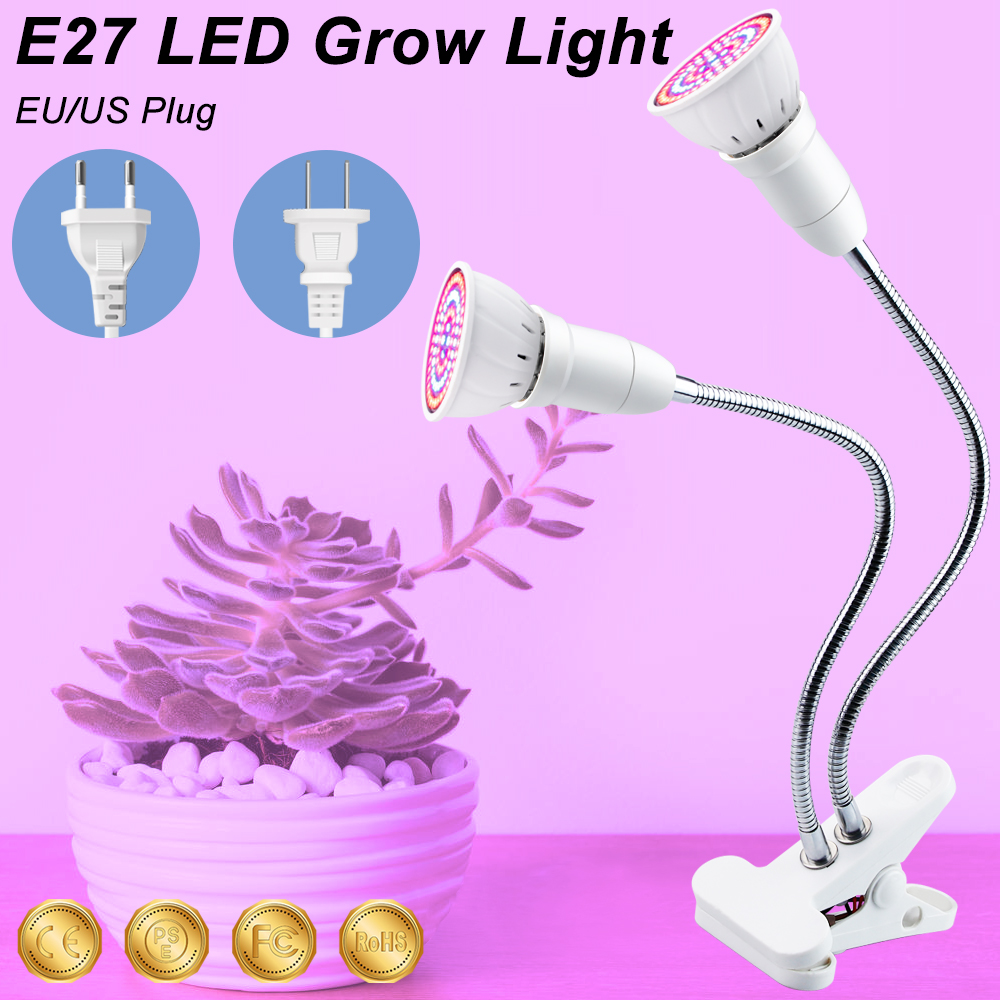 LED Growing Lamps LED Full Spectrum Clip LED Indoor Lightin 3W 5W 7W 15W 20W Plantas Hydroponic Light Bulbs For Plant Growth
