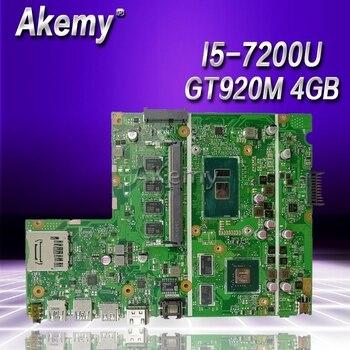 Placa base para ordenador portátil Akemy X541UJ X541UJ X541UJ X541U A541 prueba placa base original 4G RAM I5-7200U GT920M