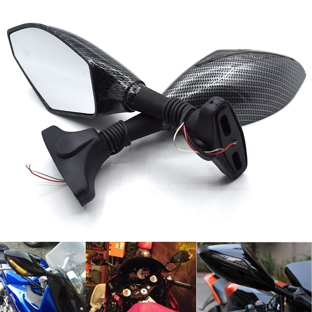 Universal Motorcycle LED Turn Rear View Side Wing <font><b>Mirrors</b></font> Signal Light for <font><b>Suzuki</b></font> GSX-R 600 <font><b>750</b></font> K6 <font><b>GSXR</b></font> 1000 GSXR1000 K5 image
