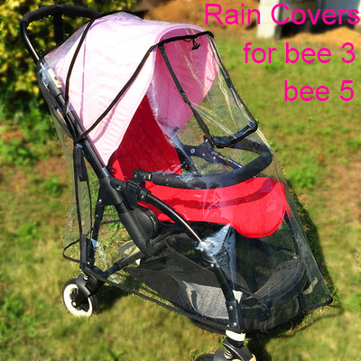 Baby Stroller Accessories Rain Cover Raincoat For Bugaboo Bee 3 5 Bee3 Bee5 PE Material