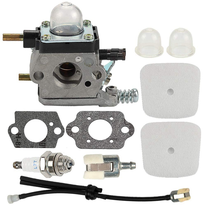 Carburetor With Air Filter Repower Kit For 2-Cycle Mantis 7222 7222E 7222M 7225 7230 7234 7240 7920 7924 Tiller/Cultivator