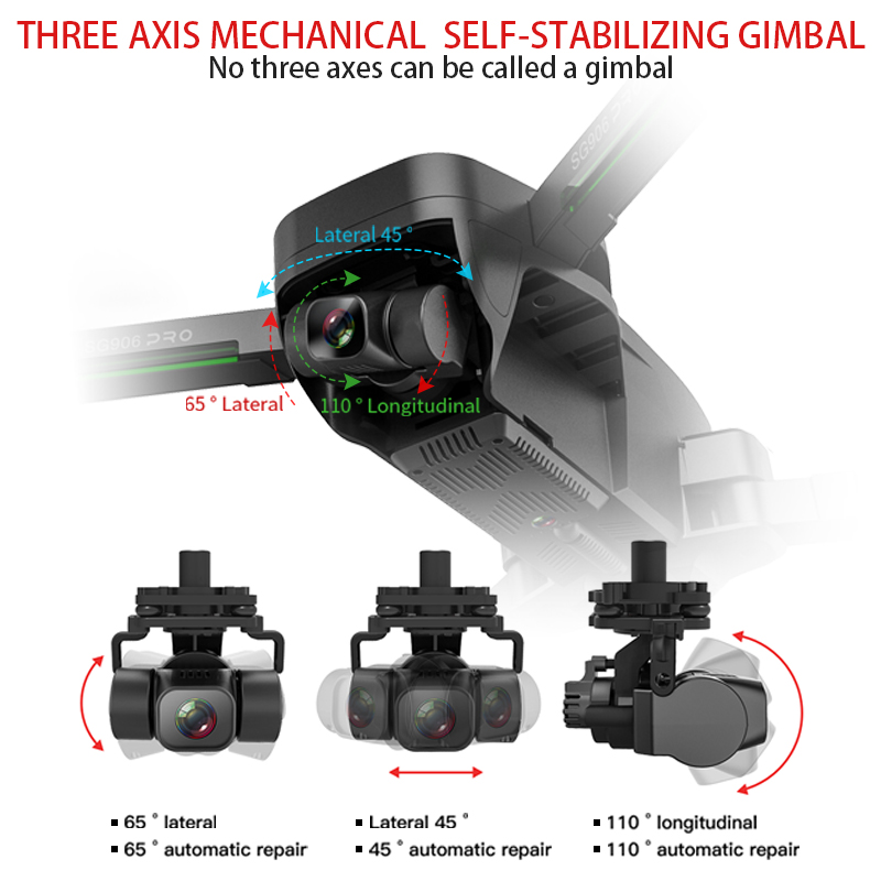 HGIYI SG906 PRO 2 GPS Drone with 3-axis Anti-shake Self-stabilizing Gimbal 4K HD Camera Brushless Dron Professional Quadcopter 2