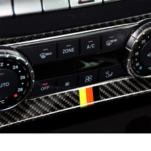 car styling interior buttons panel decoration cover trim sticker frame for mercedes benz c class w204 2011 2014 auto accessories Carbon Fiber Interior Decoration Air Conditioning Knob Panel Cover Trim for Mercedes Benz W204 C Class Car Decal Accessories