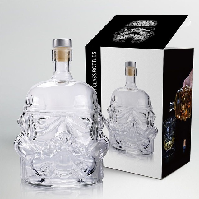 650ml Star Wars White Soldier Glass Jug Storm Trooper Spirit bottle Empty Crystal Wine Glass Bottle Glass Cup Tools Home Bar|Other Bar Tools| |  - title=