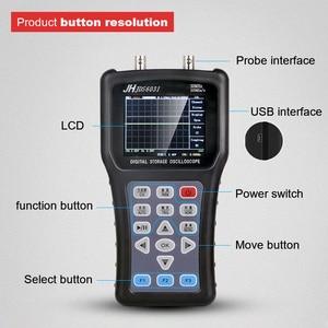 Image 2 - Gerador handheld portátil do sinal de jinhan jds6031 1ch 30m jds6052s 2ch 50m 200msa/s 5 línguas do osciloscópio do strorage de digitas