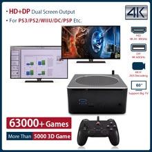 Super console x box mini pc retro game console ganhar 10 pro e jogo sistema duplo para ps2/wii/psp/n64/sega construir em 63000 + jogos